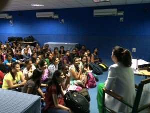 Ana Adi - lecture at Ethiraj College