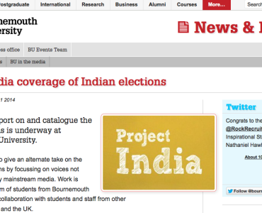 Project India on BU website