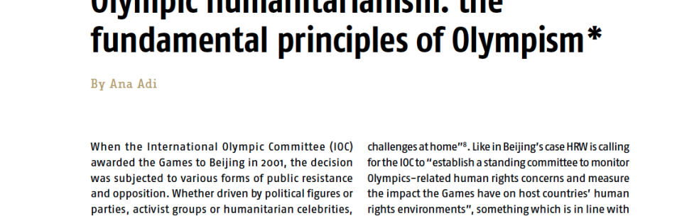 Olympic humanitarianism