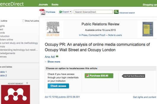 Occupy PR