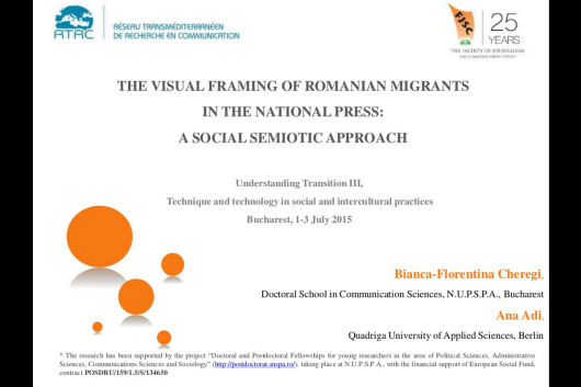 Visual framing of Romanians
